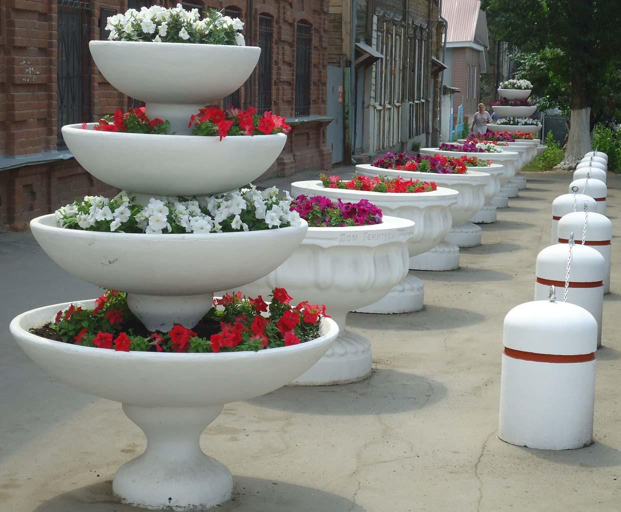 садовый вазон из бетона купить