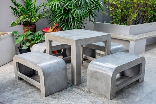 бетон мебель